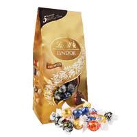 Lindt 瑞士莲 软心巧克力 金色什锦袋装 美国进口 约50颗 600g