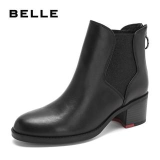 BeLLE 百丽 切尔西靴女短靴 BWM42DD8O 黑色 39