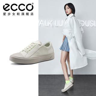 ECCO 爱步  221803 小白鞋女鞋 休闲鞋女 白色