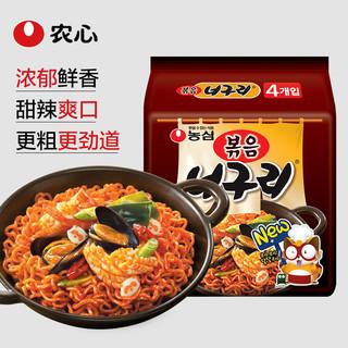 NONG SHIM 农心 韩国进口小浣熊拌面137g*4袋速食方便面