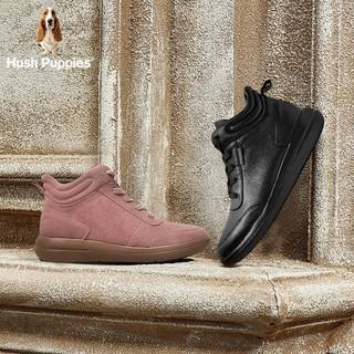 Hush Puppies 暇步士 HNP32DD9 平底时尚系带女休闲短靴
