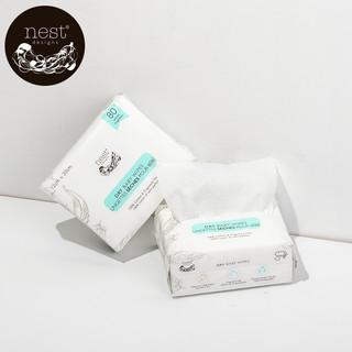Nest Designs Nest Designs棉柔巾婴儿干湿两用宝宝专用新生洗脸巾80抽12*20cm