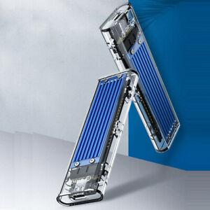 PLUS会员 : ORICO 奥睿科 M.2 NVMe外置Type-C移动硬盘盒 透明款