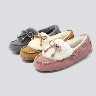 Hush-Puppies-暇步士专柜同款毛里豆豆鞋女舒适乐福鞋R1L03CM8