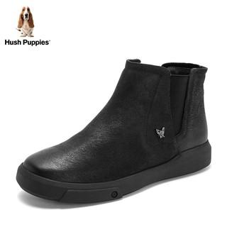 HushHush-Puppies-暇步士冬季专柜同款平底短靴女休闲鞋