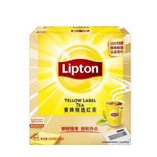 Lipton 立顿 黄牌精选红茶包S100包200g斯里兰卡红茶叶