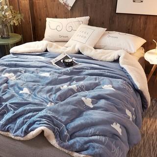 J.H.Longess 加厚双面羊羔绒被套毯 1.5米