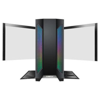 LIANLI 联力 黑 游戏电脑主机箱 全钢铁面板/双开钢化玻璃侧透/ARGB神光同步/支持E-ATX、竖装显卡/背线隐匿