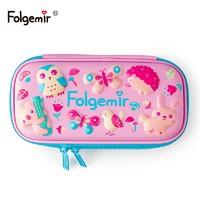 Folgemir 跟我来 EVA大容量文具盒 动物乐园款 中号 *3件