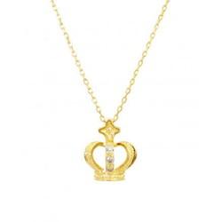 GLADD 天然钻石 皇冠项链