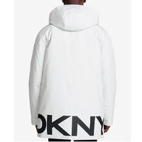 DKNY 唐纳·卡兰 男士DKNY中长款连帽棉服