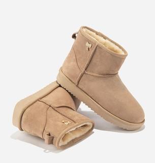hotwind 热风 加绒短筒雪地靴