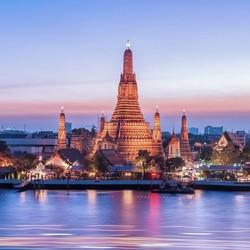 广州直飞泰国曼谷5/6天往返含税机票