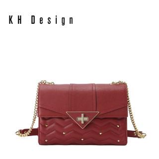 KH Design 明治 真皮斜挎包轻奢女包