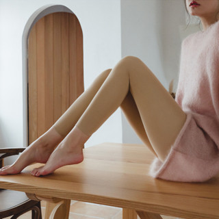 ANNAKAKA 女士秋冬款薄绒打底裤