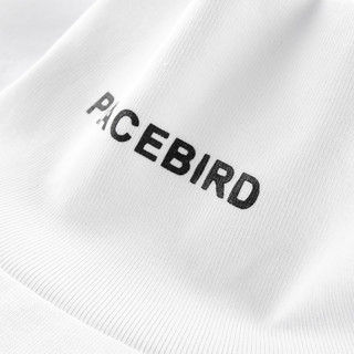 PEACEBIRD 太平鸟 冬季高领胶印T恤 XXXL 白