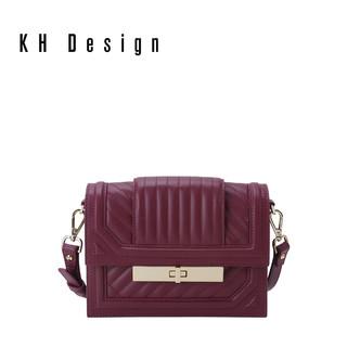 KHDesign明治简约单肩包小斜挎包百搭新款秋冬菱格包真皮时尚