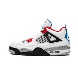NIKE 耐克 Air Jordan 4 What The CI1184 146 30周年 篮球鞋 (红蓝鸳鸯、40.5)