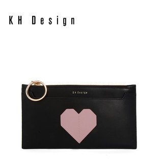 KH Design 明治 手拿包时尚心形手抓包多卡位