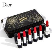 Dior 迪奥 烈艳蓝金唇膏烟花限量版套装(滋润999+哑光999+028+520+666+080)限量款礼盒