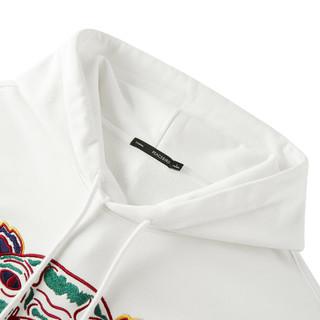 太平鸟男装 秋冬新款创意虎头刺绣青年时尚套头卫衣