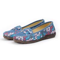 女士平底老北京布鞋 蓝色 36-40码