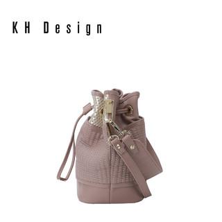 KHDesign明治真皮休闲水桶包