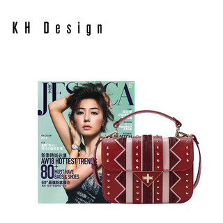 KH Design明治女包真皮民族风小包链条小方包