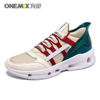 onemix 玩觅 1519 男士休闲户外旅游鞋子 黄松石绿 44