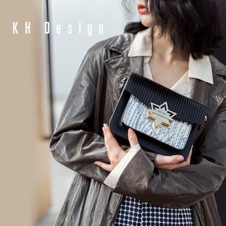 KH Design 明治 真皮锁扣包时尚单肩包