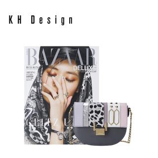 KH Design 明治 拼接斜挎包马鞍包