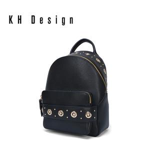 KH Design 明治 女包镶钻真皮双肩