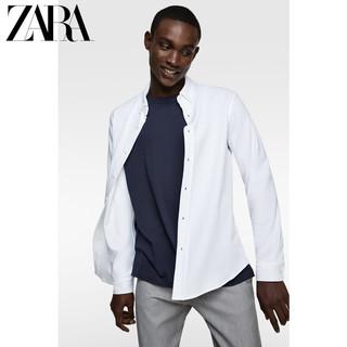 ZARA 06264302250 男装 珠地布纹理衬衣衬衫