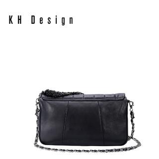 KHDesign明治女包真皮菱格手提包专柜同款斜挎包时尚小香风