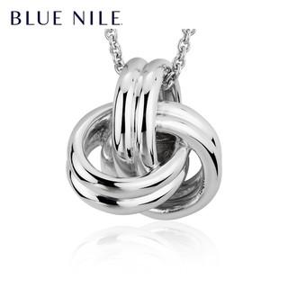 Blue Nile 63164 奢华风爱之结吊坠项链 925银 10.5g