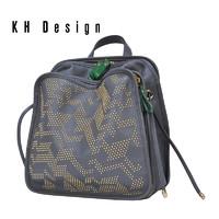 KH Design 明治 双肩包牛皮背包大容量多隔层旅行包