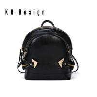 KH Design 明治 2019新品双肩包牛皮背包