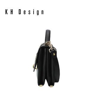 KHDesign明治女包时尚小方包铆钉手提简约单肩斜挎包2019新款休闲