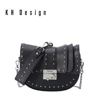 KHDesign明治女包时尚马鞍包复古小ck半圆包手提包斜挎单肩包