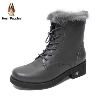Hush Puppies 暇步士 女休闲帅气短靴