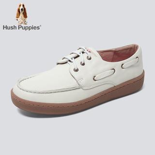 Hush Puppies 暇步士 R1K09CM9 平底百搭系带板鞋