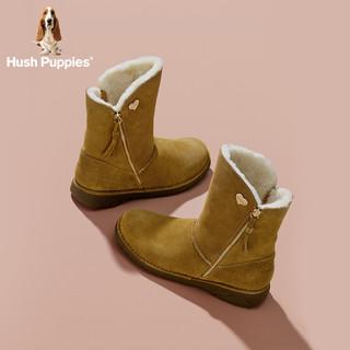 Hush Puppies 暇步士 W1F12DZ8 女雪地靴毛里 驼色 37
