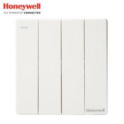 霍尼韦尔(honeywell)开关插座面板 四位双控四开双控开关 境尚系列 白色