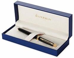 Waterman 威迪文 Hémisphère 隽雅系列 纯黑丽雅金夹钢笔 F尖