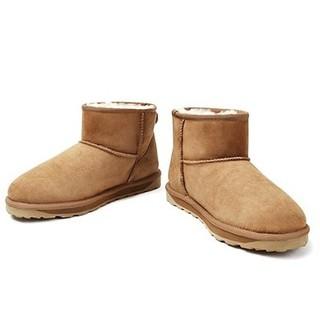京东PLUS会员 : UV UGG 情侣款经典款羊皮毛一体短筒雪地靴