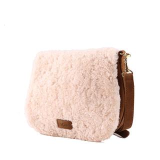 UGG 2018秋季 1097680 女士包袋莉维羊皮毛马鞍包  NAT | 裸色