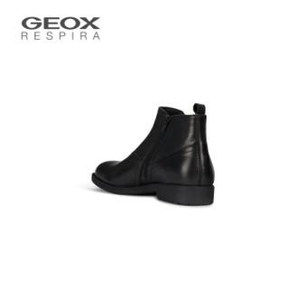 GEOX/健乐士男鞋2019秋冬新款商务休闲短靴切尔西靴U94Y7B