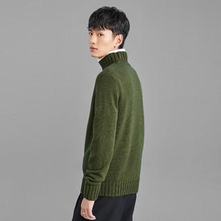太平鸟男装冬季半高领毛衣男保暖针织毛套衫休闲青年针织衫韩版潮