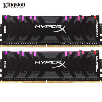 金士顿(Kingston) DDR4 3600 16GB(8G×2)套装 台式机内存条 骇客神条 Predator掠食者系列 RGB灯条