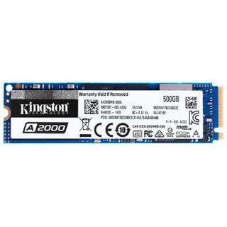 Kingston 金士顿 A2000系列 NVMe M.2 SSD固态硬盘 500GB